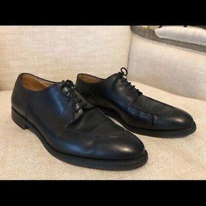 John Lobb Derby Chambord II Black Leather Oxfords